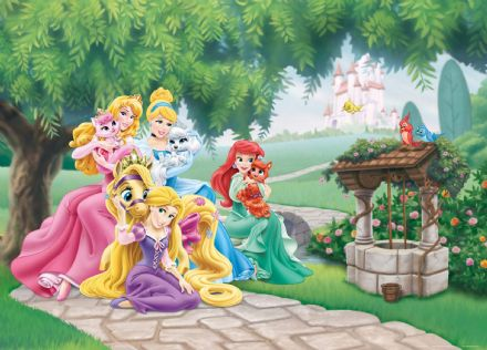 Princesses mural wallpaper 160x110cm Disney